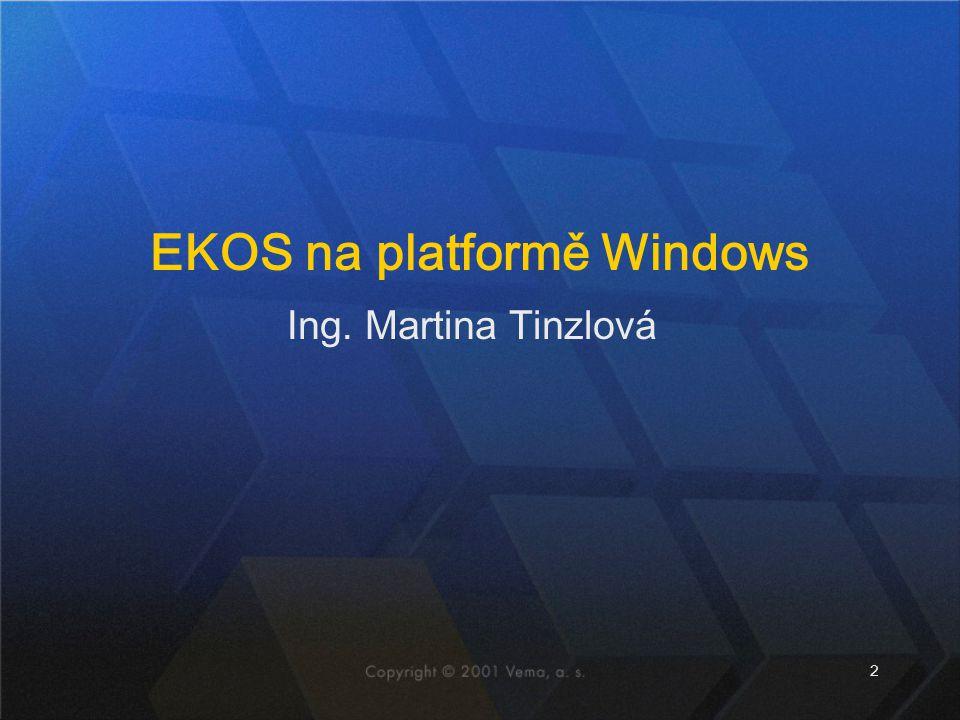 EKOS na platformě Windows