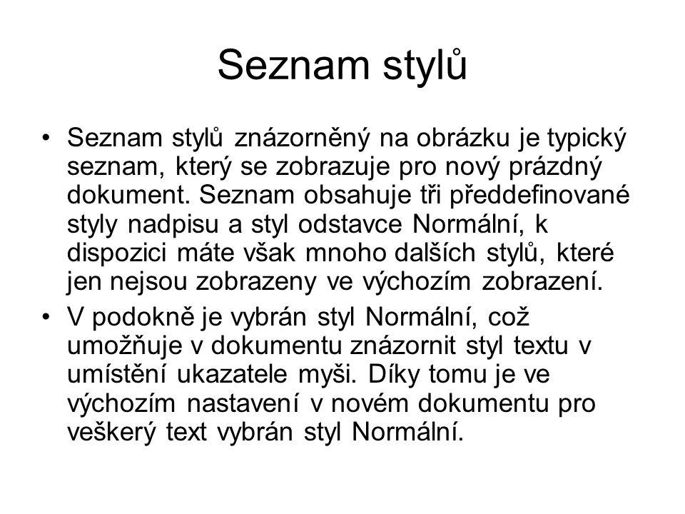 Seznam stylů