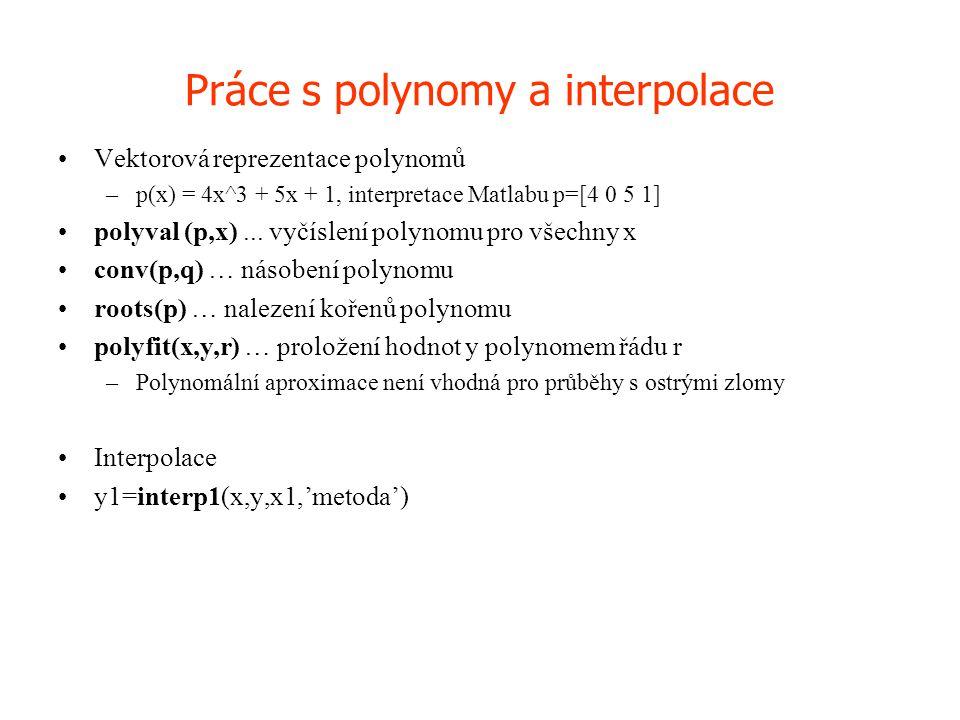 Práce s polynomy a interpolace