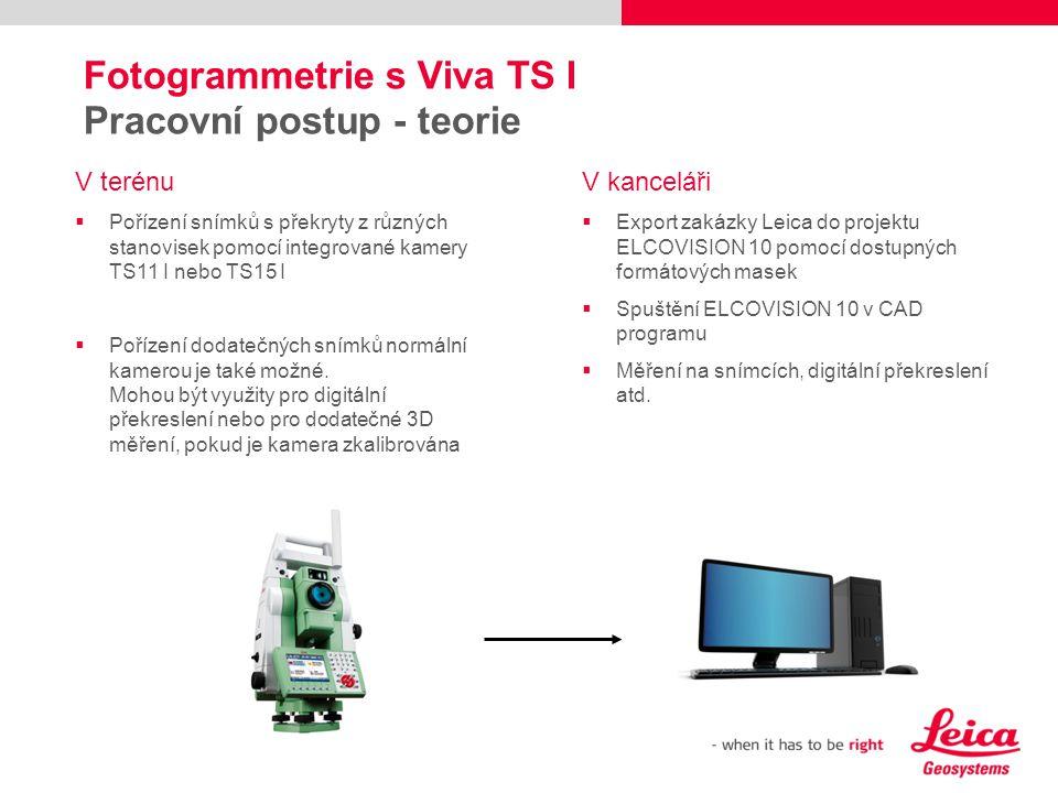 Fotogrammetrie s Viva TS I Pracovní postup - teorie