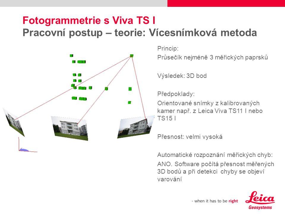 Fotogrammetrie s Viva TS I Pracovní postup – teorie: Vícesnímková metoda