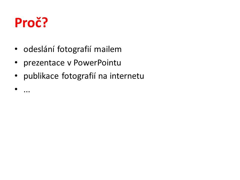 Proč odeslání fotografií mailem prezentace v PowerPointu