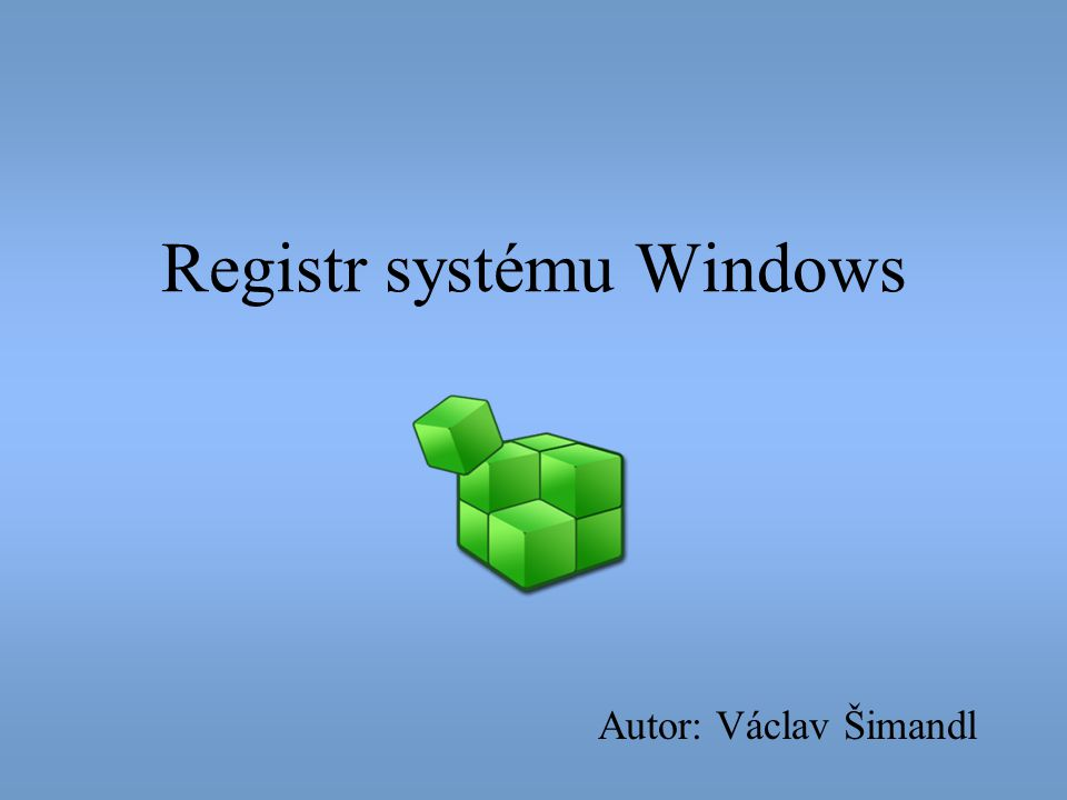 Registr systému Windows