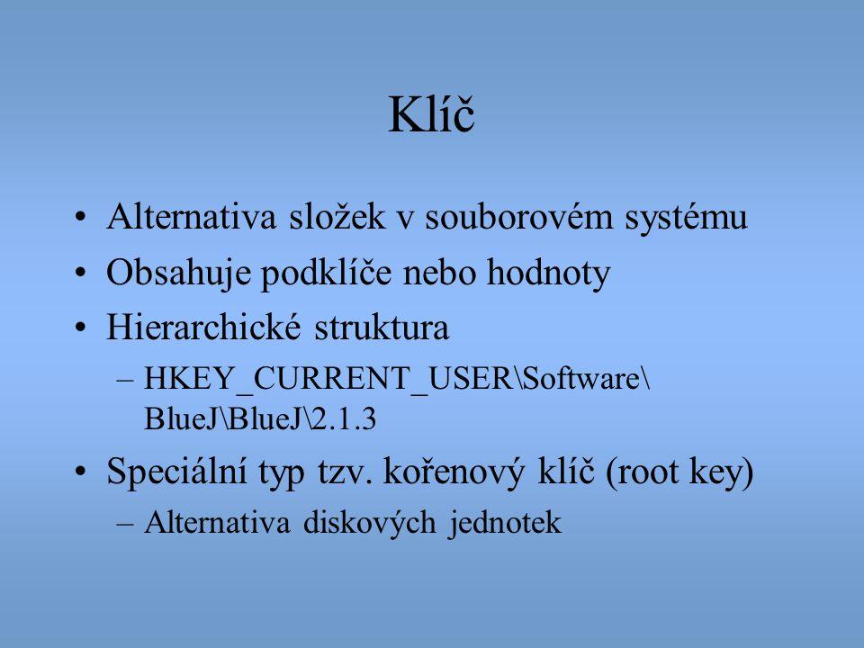 Klíč Alternativa složek v souborovém systému