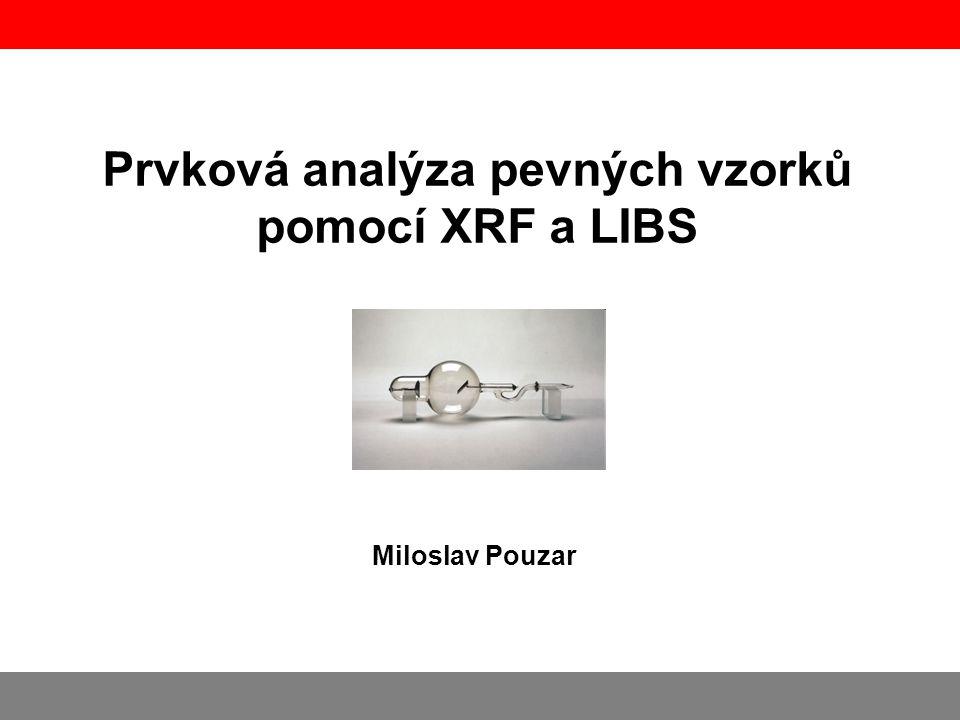 Prvková analýza pevných vzorků pomocí XRF a LIBS