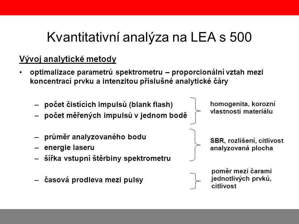 Kvantitativní analýza na LEA s 500