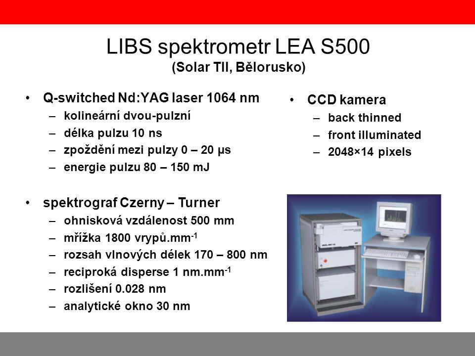 LIBS spektrometr LEA S500 (Solar TII, Bělorusko)