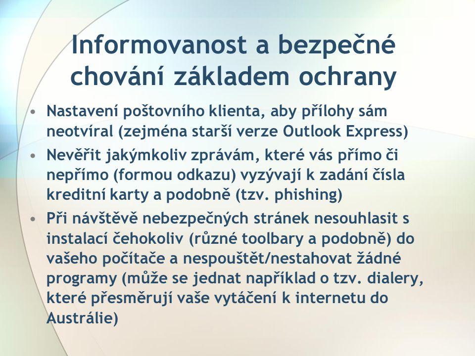Informovanost a bezpečné chování základem ochrany