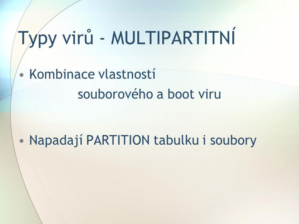 Typy virů - MULTIPARTITNÍ
