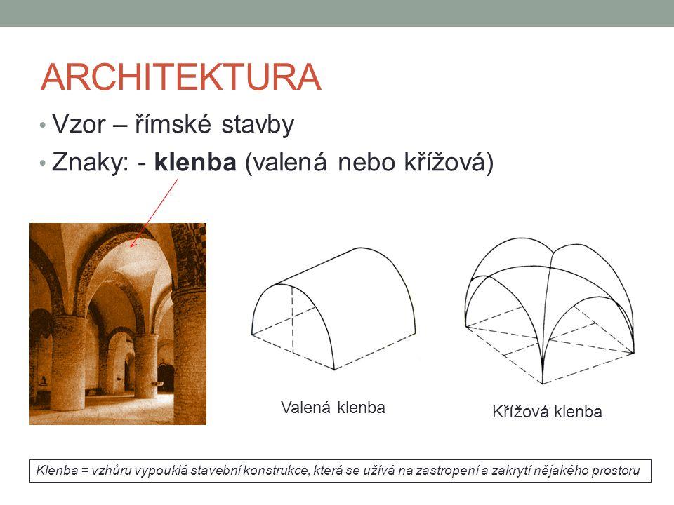 ARCHITEKTURA Vzor – římské stavby