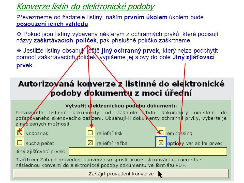 Konverze listin do elektronické podoby