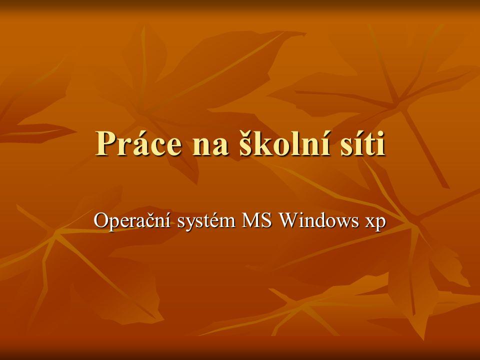 Operační systém MS Windows xp