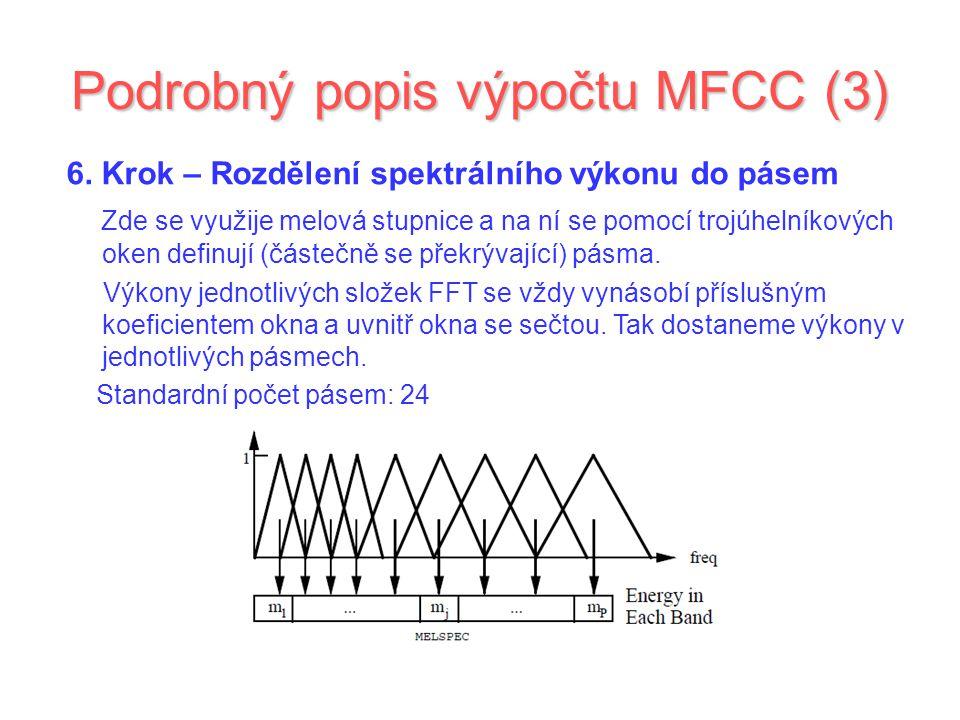 Podrobný popis výpočtu MFCC (3)