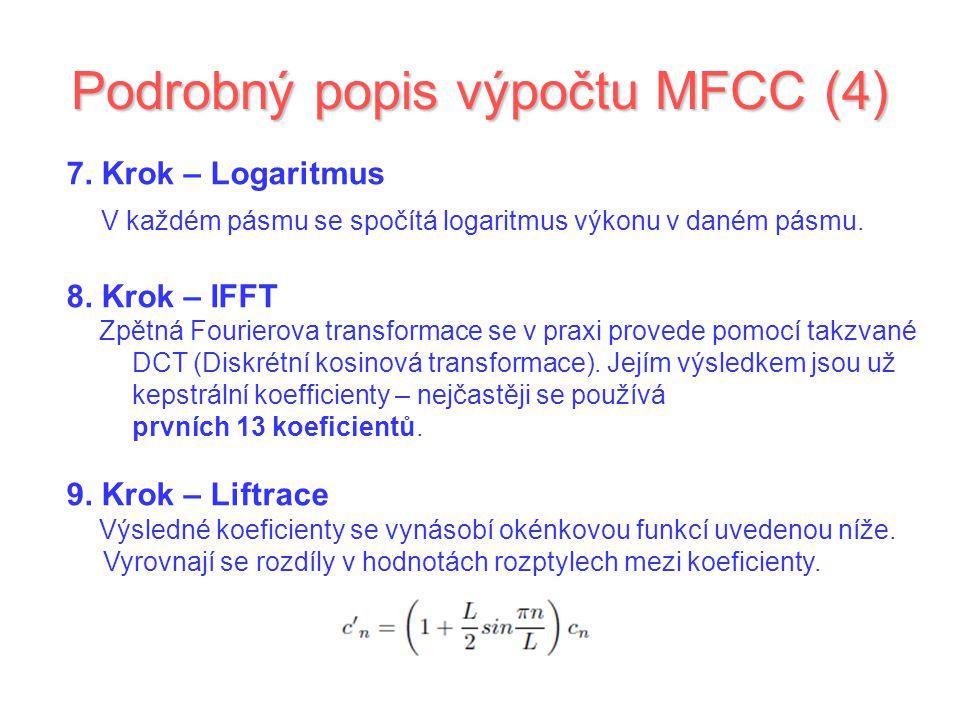 Podrobný popis výpočtu MFCC (4)