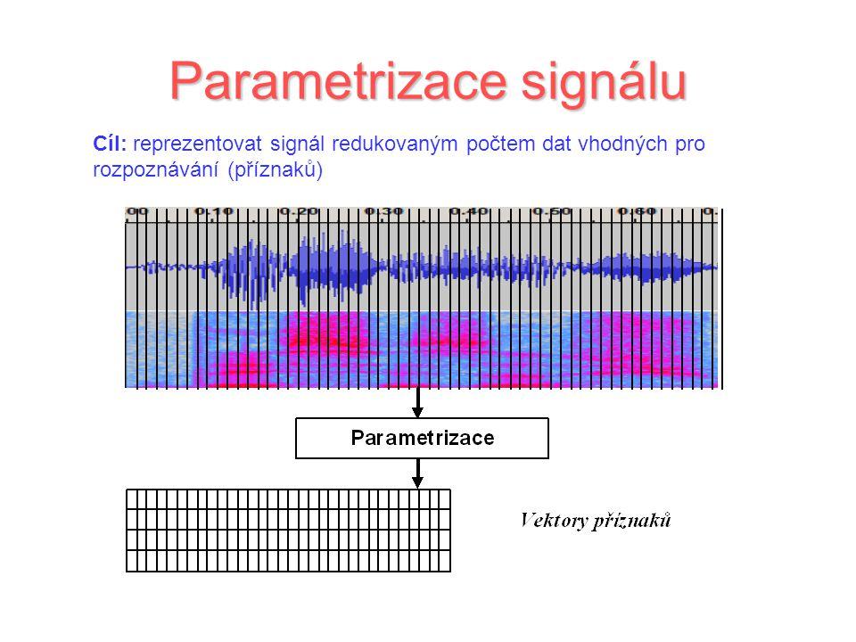 Parametrizace signálu