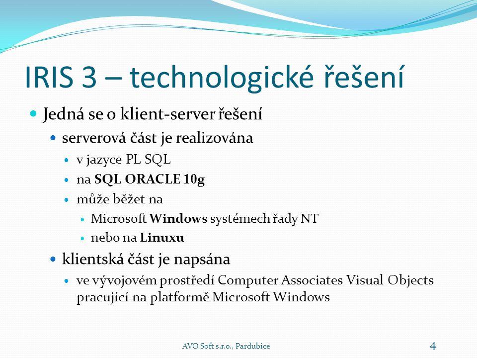 IRIS 3 – technologické řešení