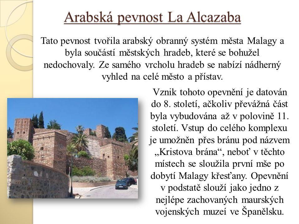 Arabská pevnost La Alcazaba