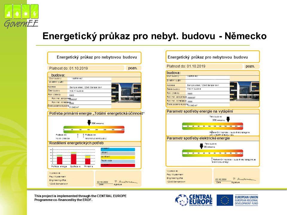 Energetický průkaz pro nebyt. budovu - Německo