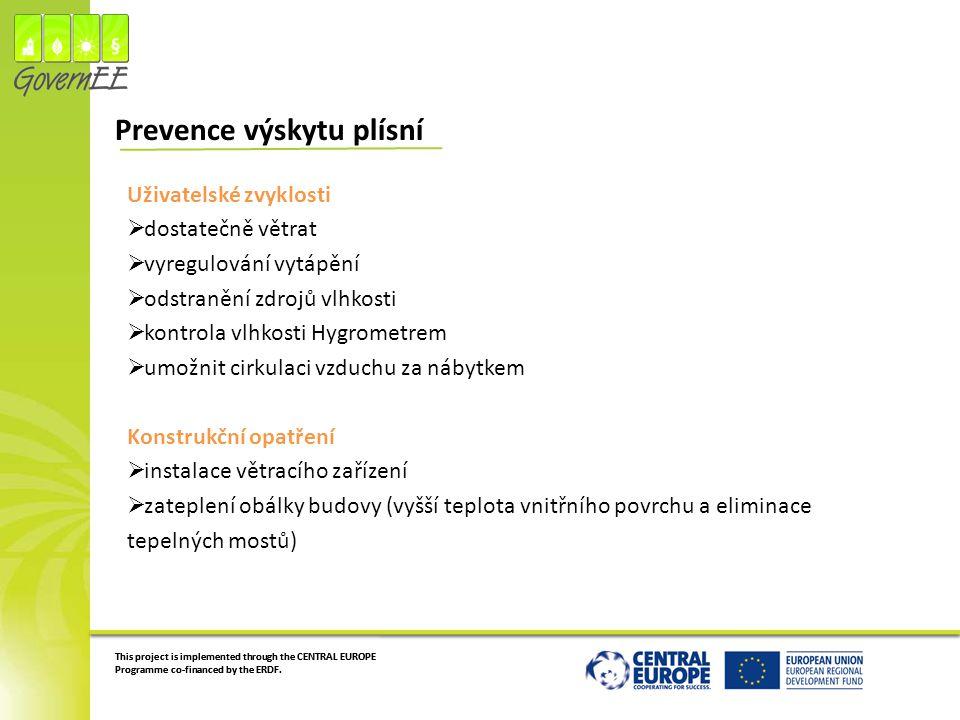 Prevence výskytu plísní