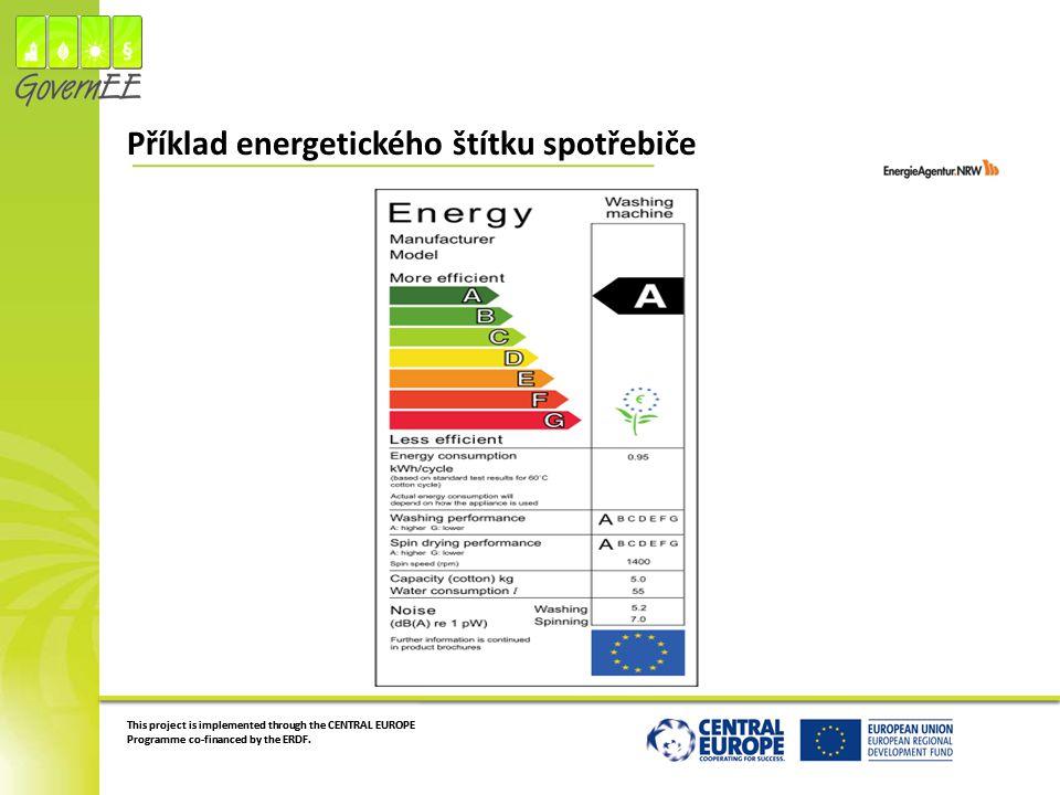Příklad energetického štítku spotřebiče