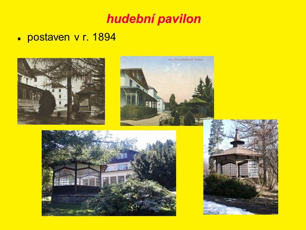hudební pavilon postaven v r. 1894