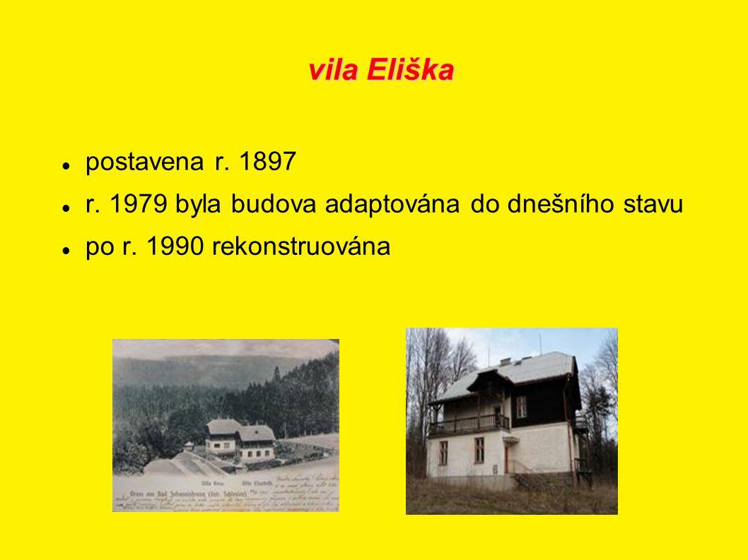 vila Eliška postavena r. 1897