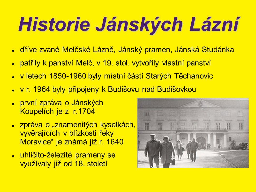 Historie Jánských Lázní