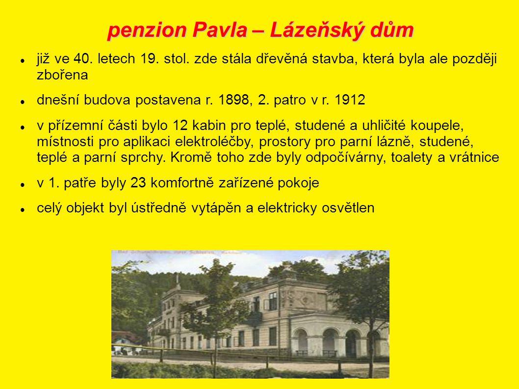 penzion Pavla – Lázeňský dům