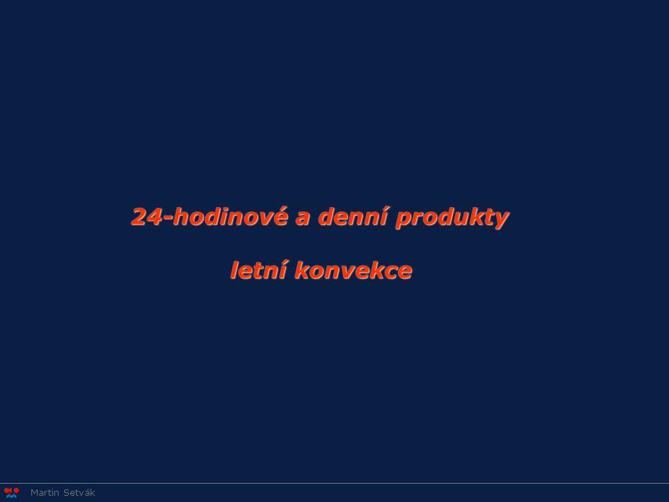 24-hodinové a denní produkty letní konvekce