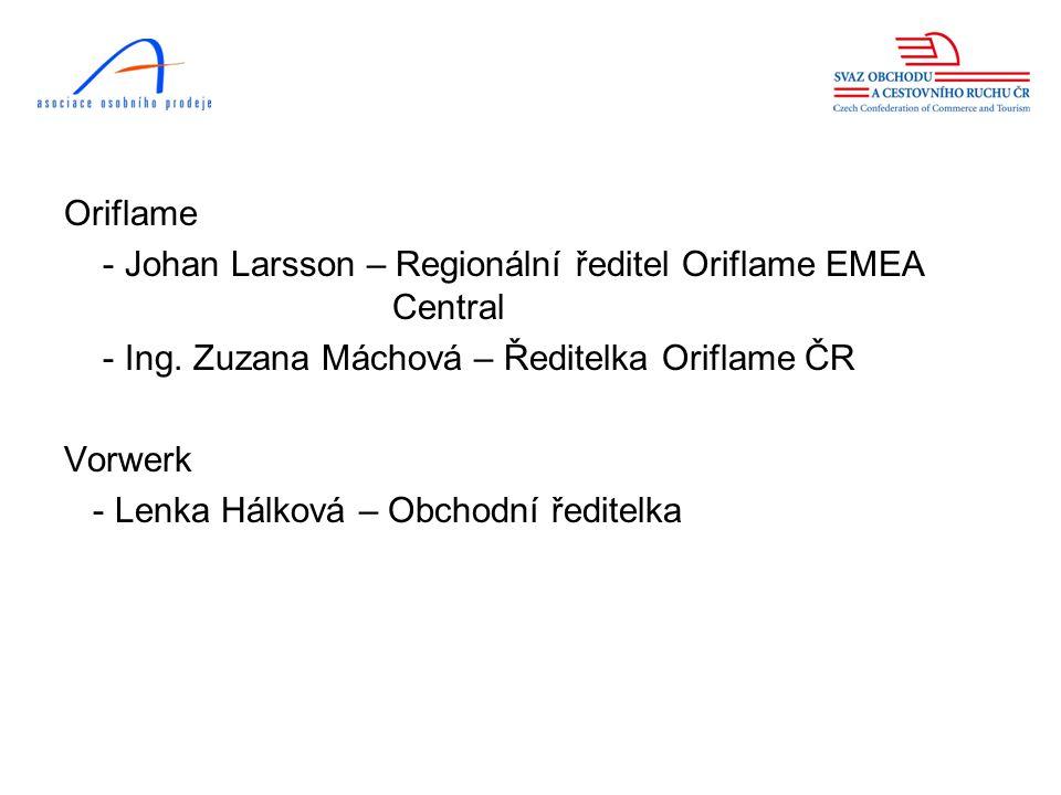 Oriflame - Johan Larsson – Regionální ředitel Oriflame EMEA Central - Ing.