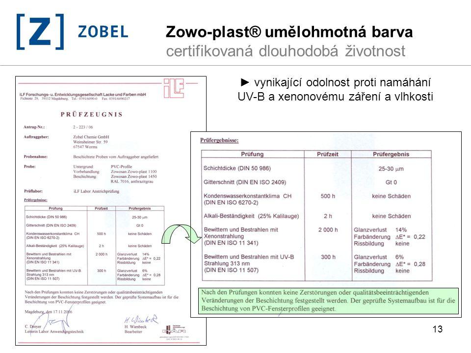 Zowo-plast® umělohmotná barva certifikovaná dlouhodobá životnost