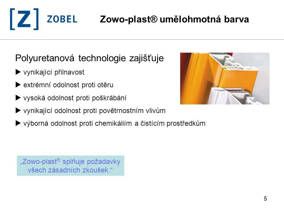 """""""Zowo-plast® splňuje požadavky všech zásadních zkoušek."""