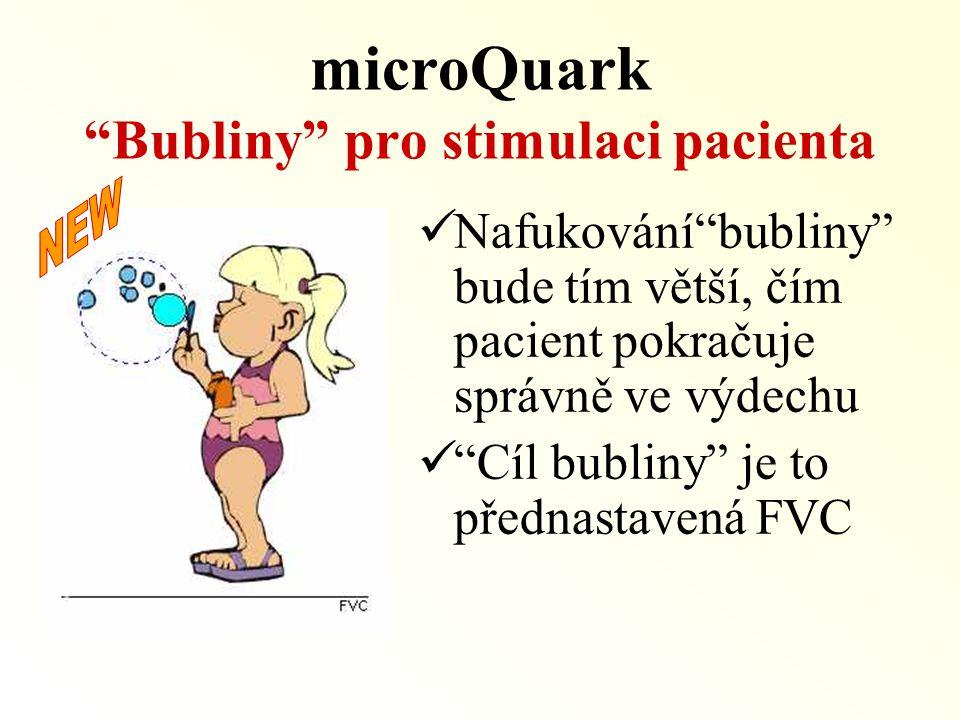 microQuark Bubliny pro stimulaci pacienta