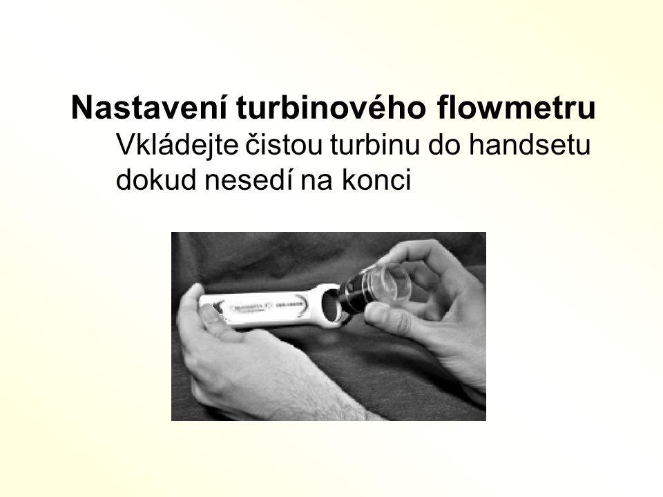 Nastavení turbinového flowmetru