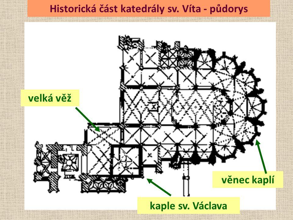 Historická část katedrály sv. Víta - půdorys