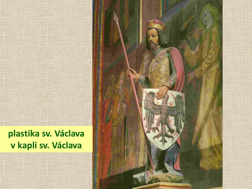 plastika sv. Václava v kapli sv. Václava