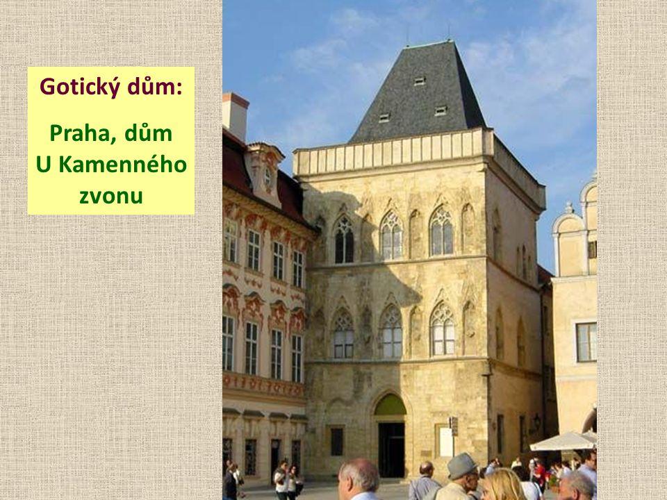 Praha, dům U Kamenného zvonu