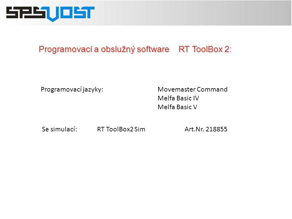 Programovací a obslužný software RT ToolBox 2: