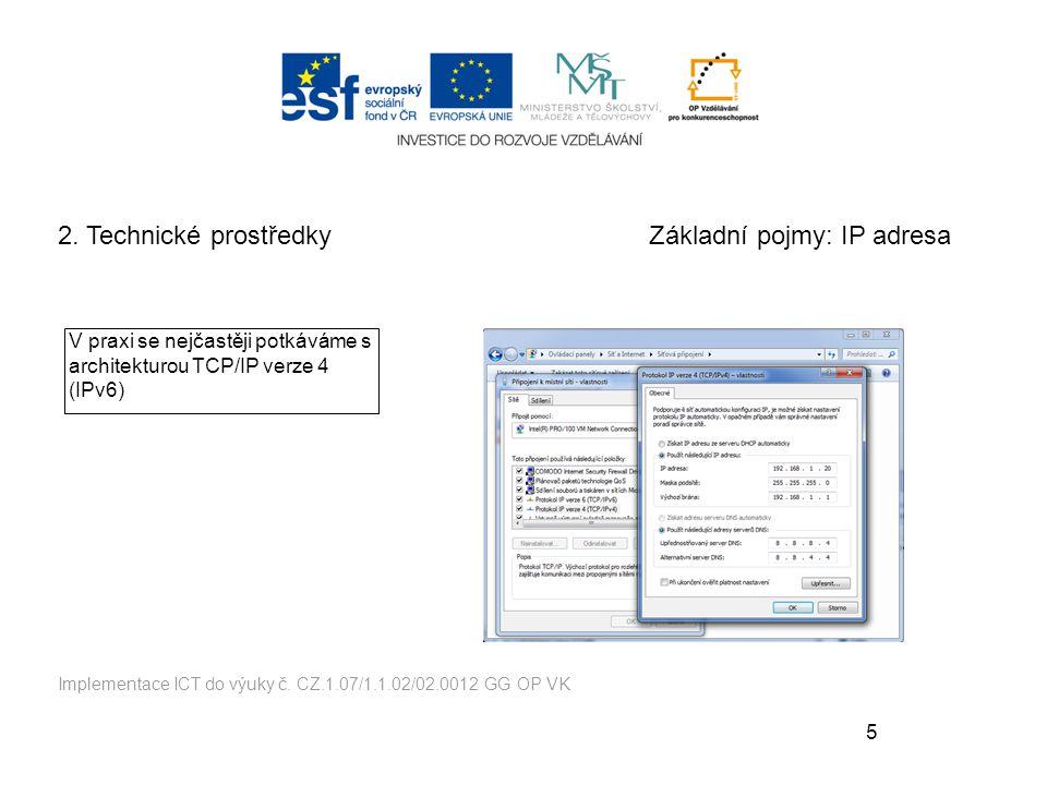 Základní pojmy: IP adresa