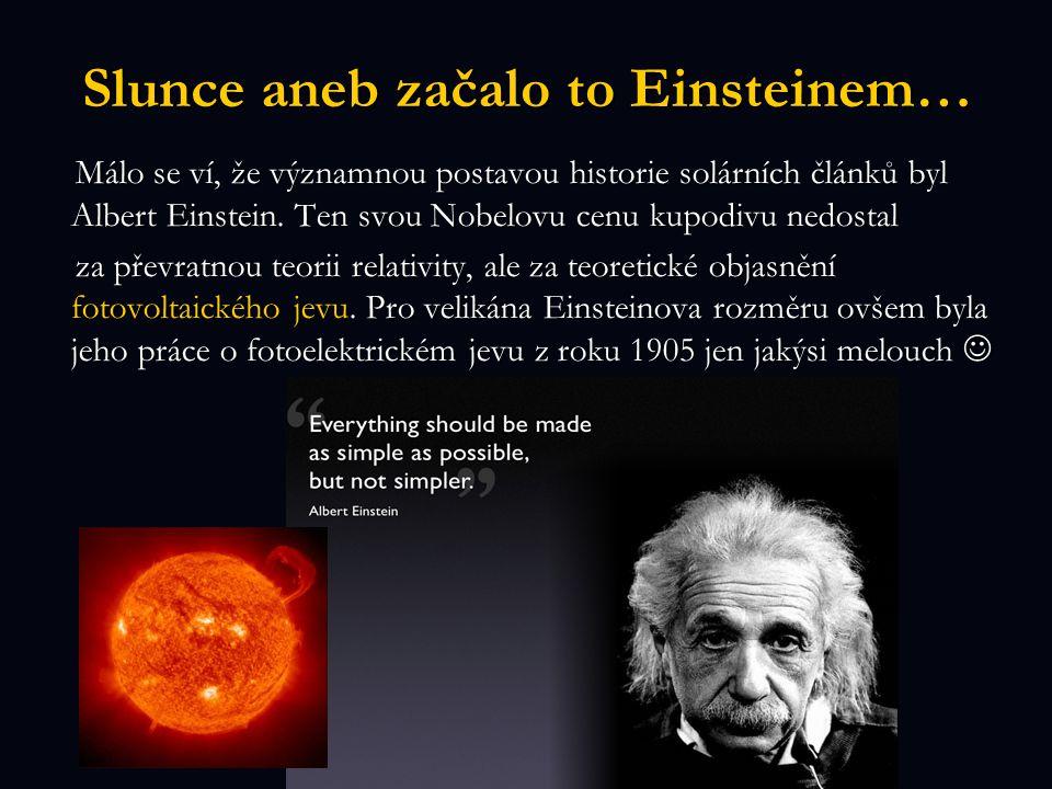 Slunce aneb začalo to Einsteinem…