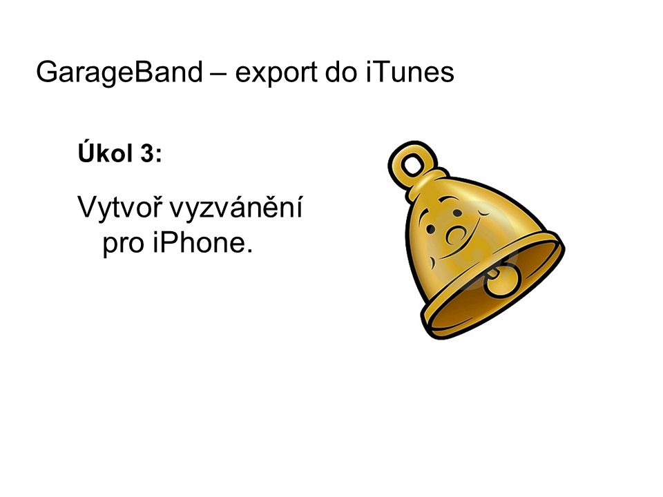 GarageBand – export do iTunes