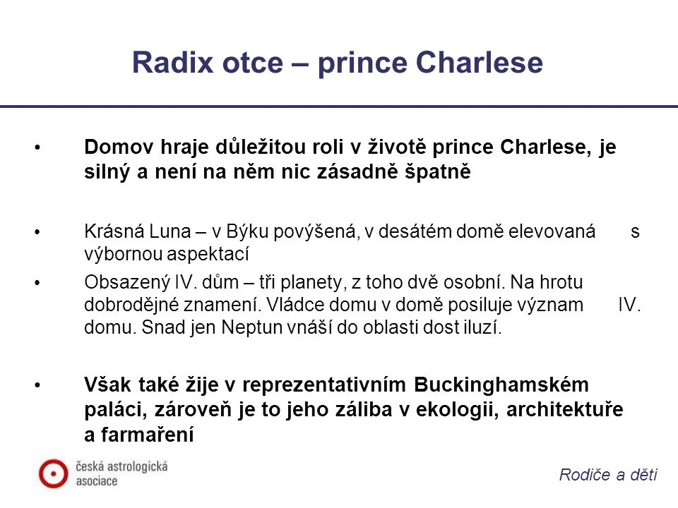 Radix otce – prince Charlese