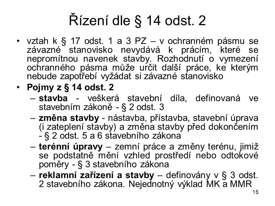 Řízení dle § 14 odst. 2