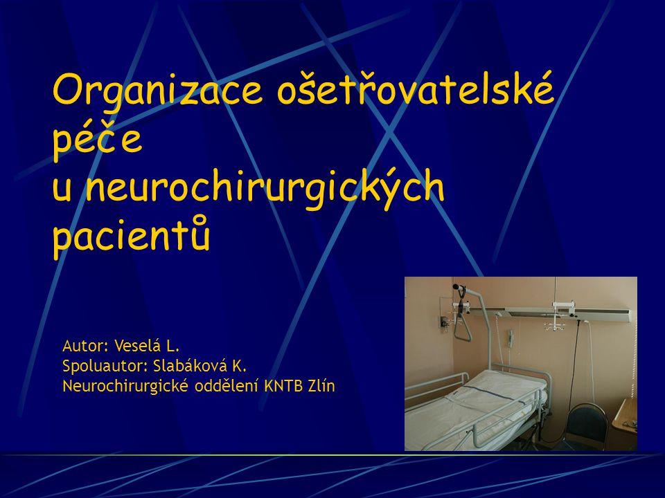 Organizace ošetřovatelské péče u neurochirurgických pacientů