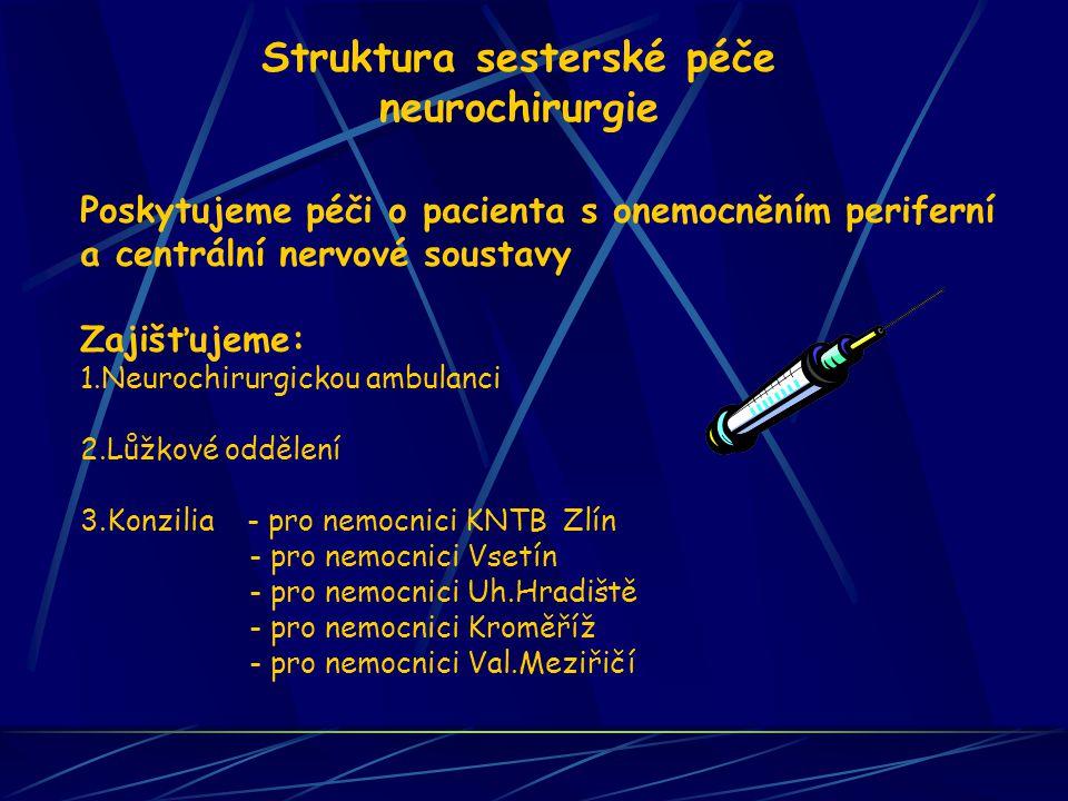 Struktura sesterské péče neurochirurgie