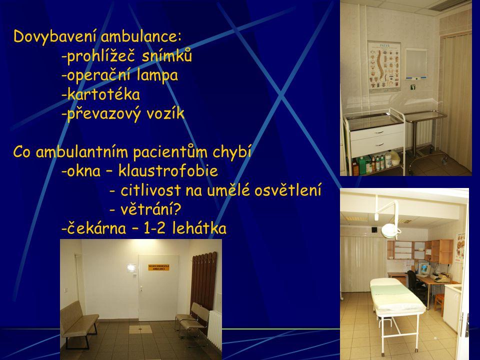 Dovybavení ambulance:
