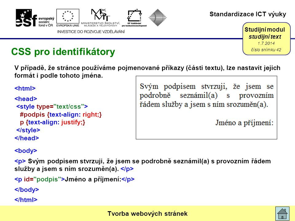 CSS pro identifikátory