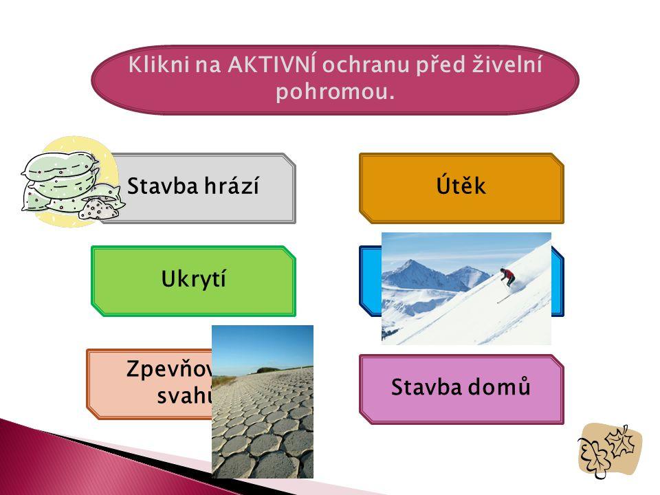 Klikni na AKTIVNÍ ochranu před živelní pohromou.