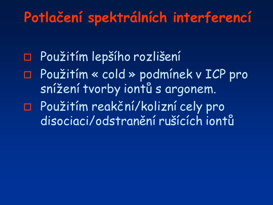 Potlačení spektrálních interferencí