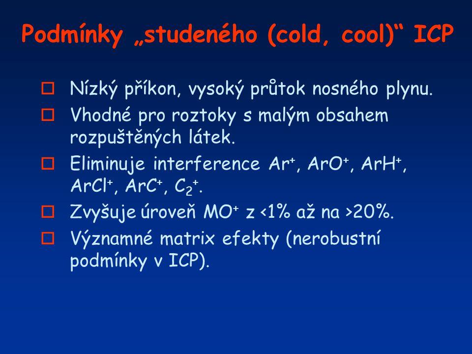 """Podmínky """"studeného (cold, cool) ICP"""
